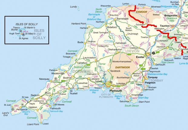 Cwusdc - Map Of Cornwall